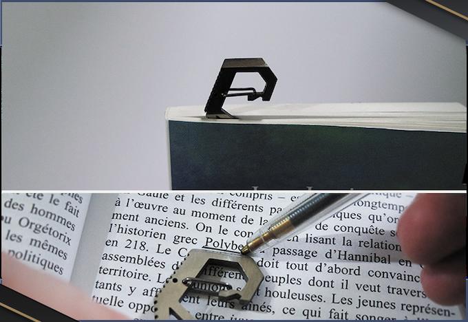Grâce à ses 3mm d'épaisseur, pourquoi ne pas l'utiliser comme marque-page ?