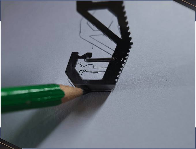 Besides sharpening leads of pencils, it can help you draw small straight lines (useful to highlight some texts, for instance).