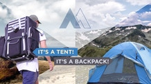 MOUNTENT - Backpack With A Built-In Tent