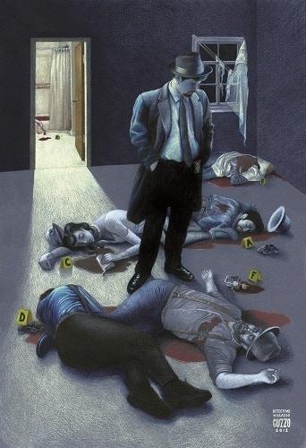 """Detective Horatio"" Hamlet-inspired art by Laura Guzzo"