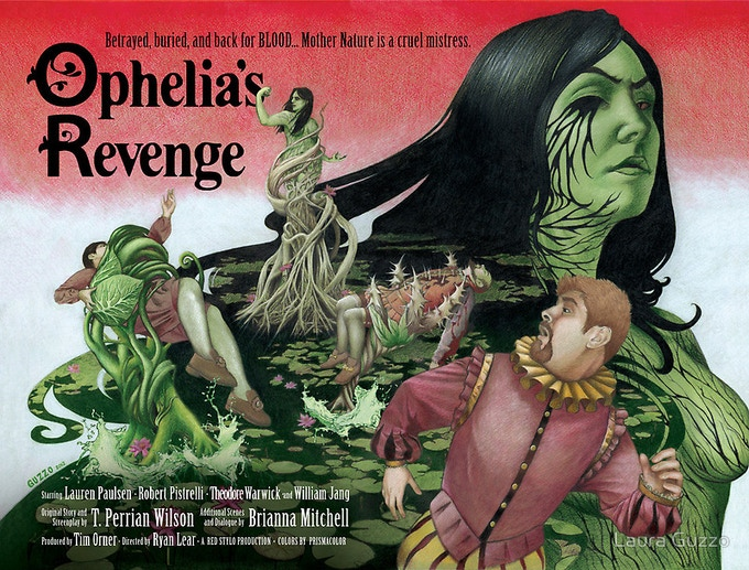 """""""Ophelia's Revenge"""" get the print, or get the original cover art by Laura Guzzo!"""