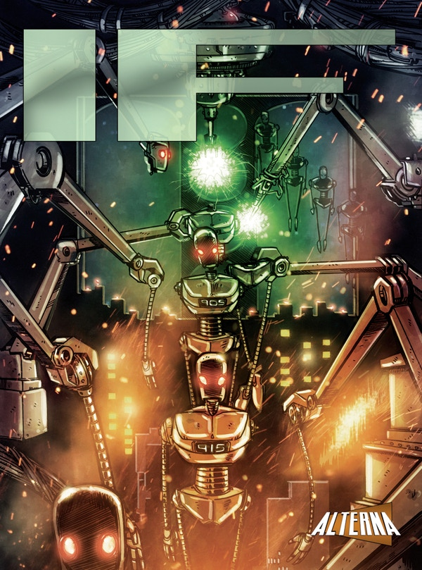 2015's IF Anthology had a science fiction theme and a cover from Dan Lauer (pencils & inks) and Tim Shinn (colors)