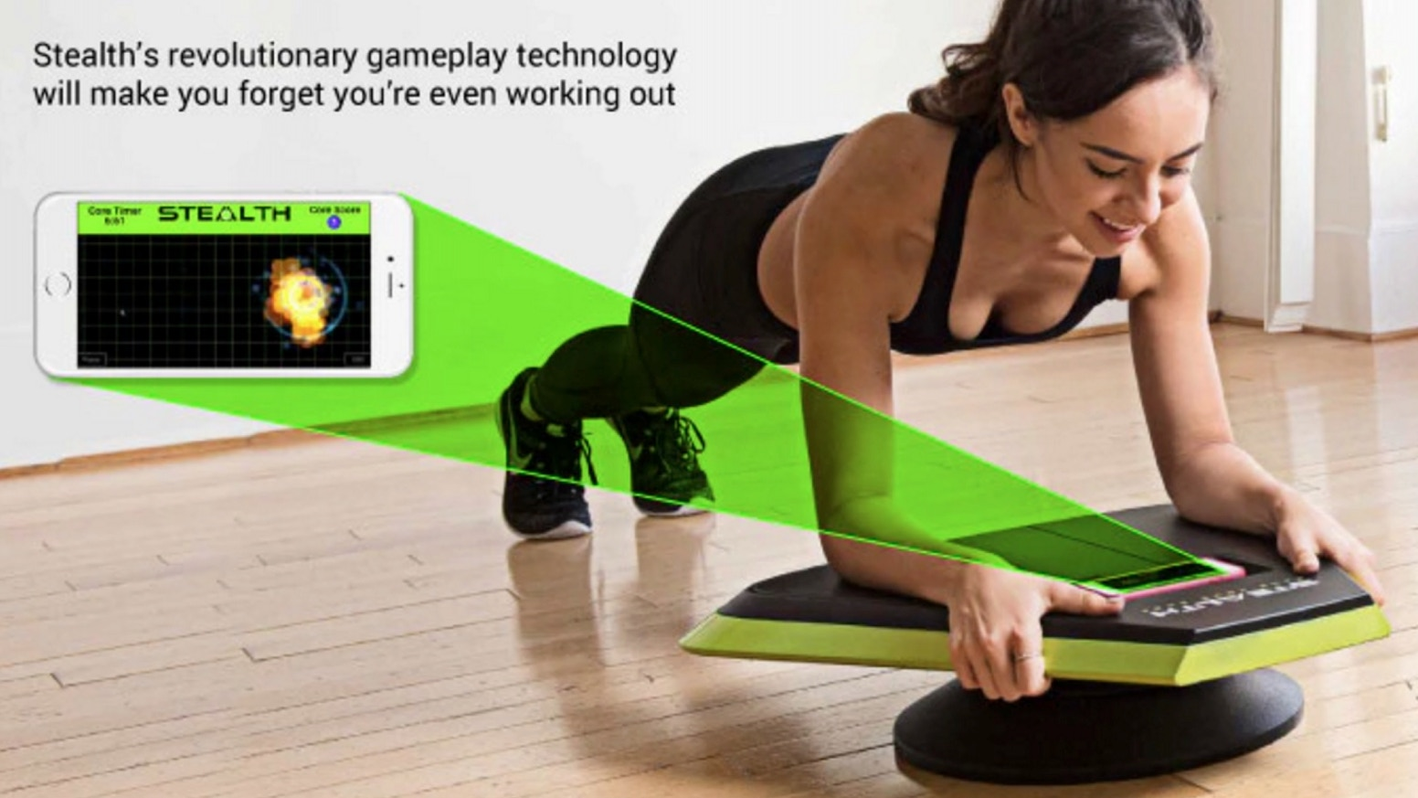 Stealth turns your body into a joystick letting you control fun mobile games with core training movements.