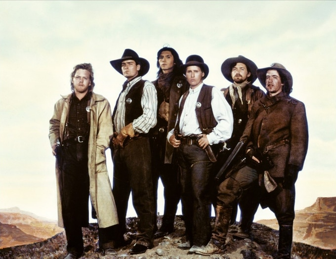 Young Guns (A Morgan Creek Production), produced by Joe Roth & Christopher Cain, directed by Christopher Cain
