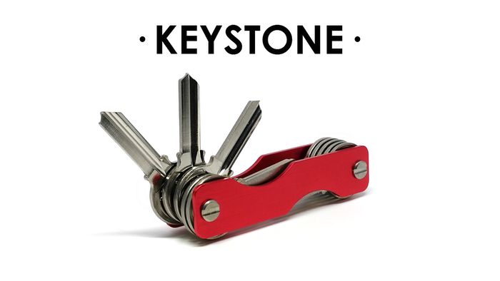 A key holder that grows with you! Hold 2 to 24 keys in style!