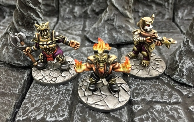 A Hellfire caster and companions