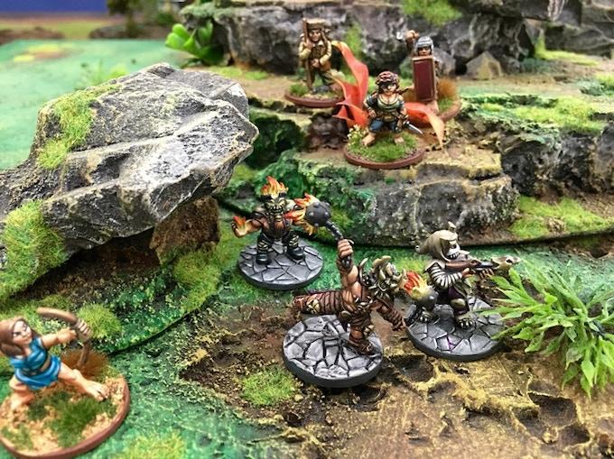 Halfings ambush a Hellfire mage