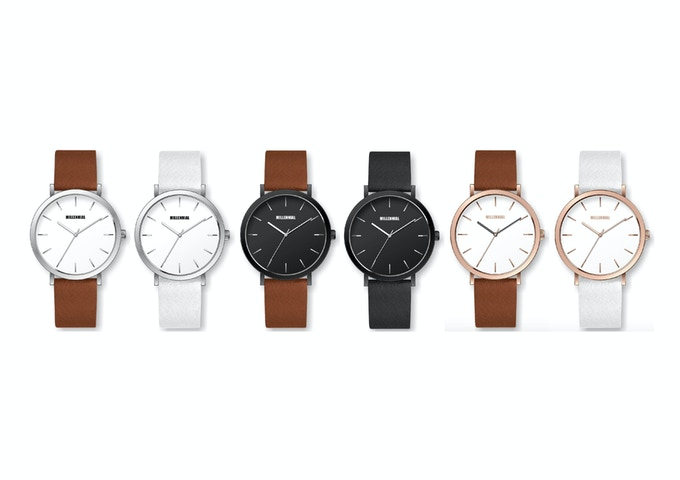 The full range of Millennial Watches