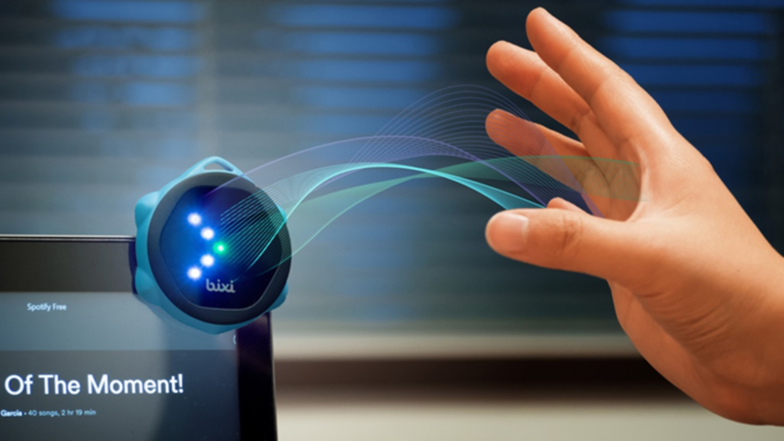 A multi-functional touch-free Smart Controller, Bixi senses your in-air gestures and commands your devices for a distraction-free use!