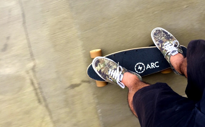 The Arc Board - Smallest, Lightest Electric Skateboard in the World