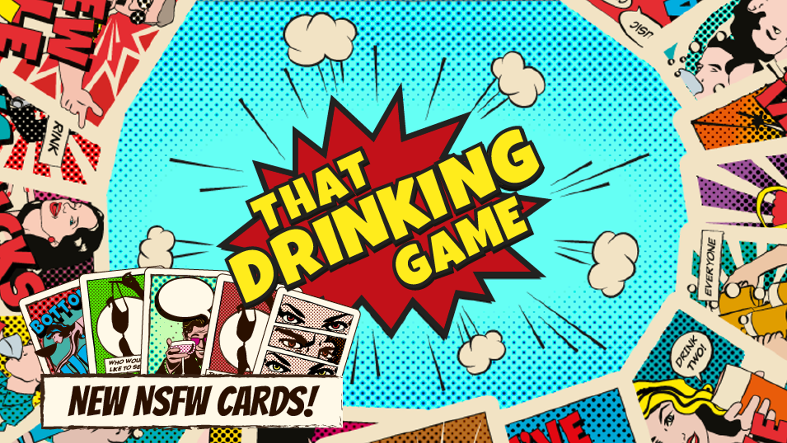 Finally, a drinking game so easy to learn that you can play it while drunk. Buy your durable plastic deck with exciting rules.