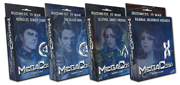 Megacorp is the first Trading Card Game to come out of South East Asia. Set in a 10,000 A.D where governments are now dismantled in lieu of Corporations. Players fight to bankrupt or buy out the competition in fast paced strategic title.