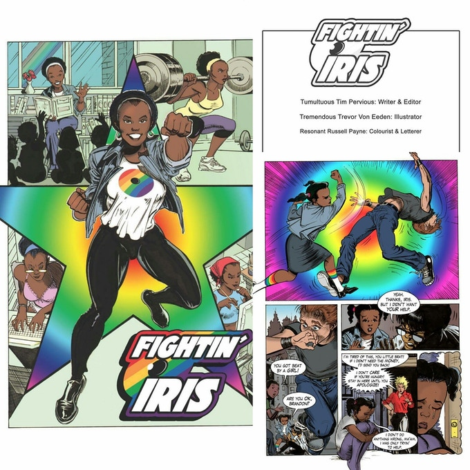 Fightin Iris created by Tim Pervious