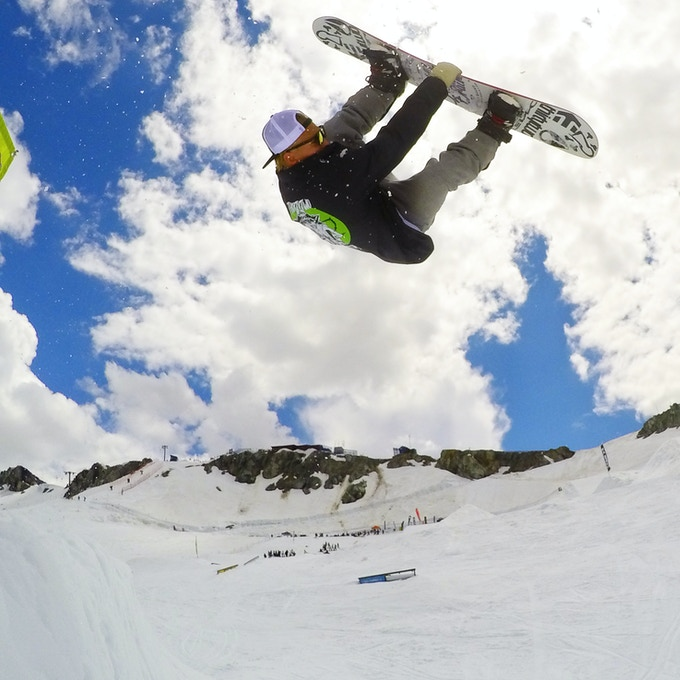 JP Walker at The Camp of Champions Snowboard Camp in Whistler