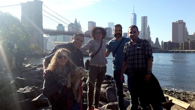 From bottom left: Yehudit Mam, Co-Founder/CMO; Juan Florville, Lead Developer; Beatriz Ramos, Founder/CEO; Abraham Milano, Co-Founder/CTO; and Juan González, Lead Developer.