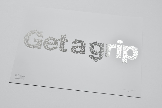 Silver foil stamped on Ice White Colorplan
