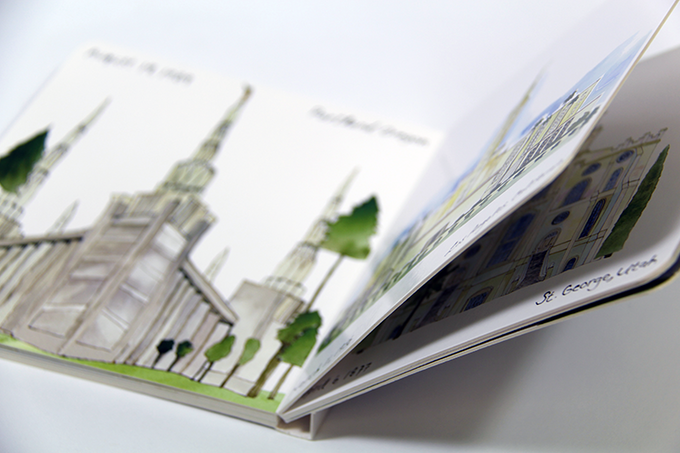 Sample of Board Book pages from the printer