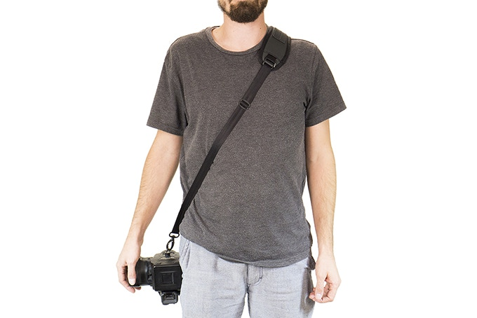 Designed so you can use your camera sling with OR without the bag!