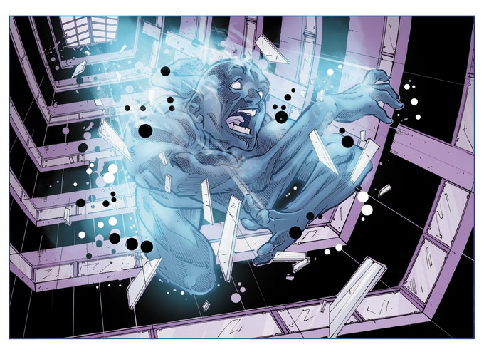 Patient Zero of the superpower plague - Art by Dani Mendoza, Colors by Tom Long.