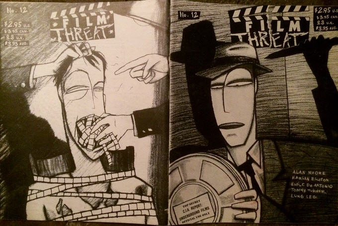 The original artwork used for issue 12 of Film Threat is a one-of-a-kind reward that can be yours.