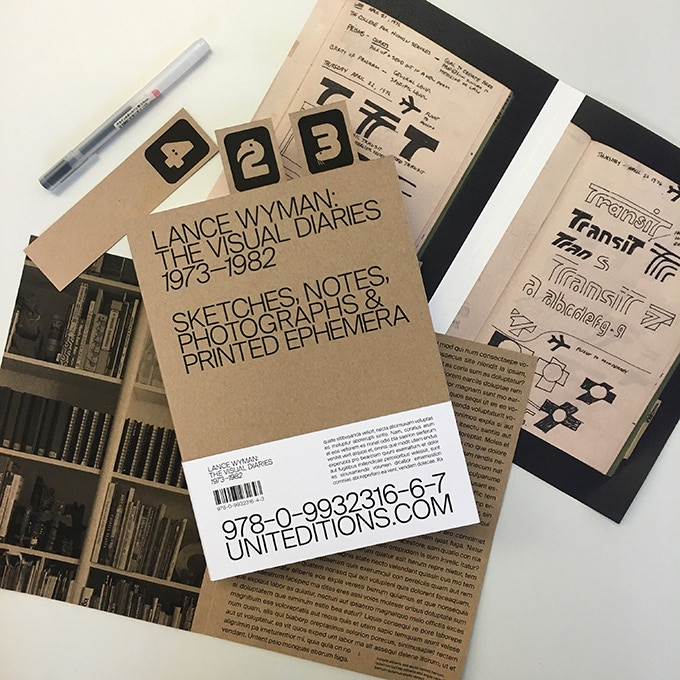 Some initial sketches and mock-ups for Lance Wyman: The Visual Diaries 1973-82.