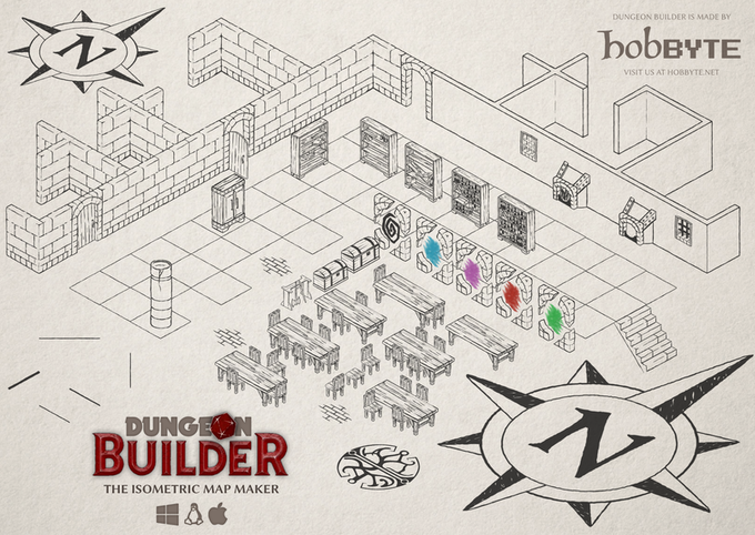 Dungeon Builder: An Isometric Map Maker for Role Players by Hobbyte