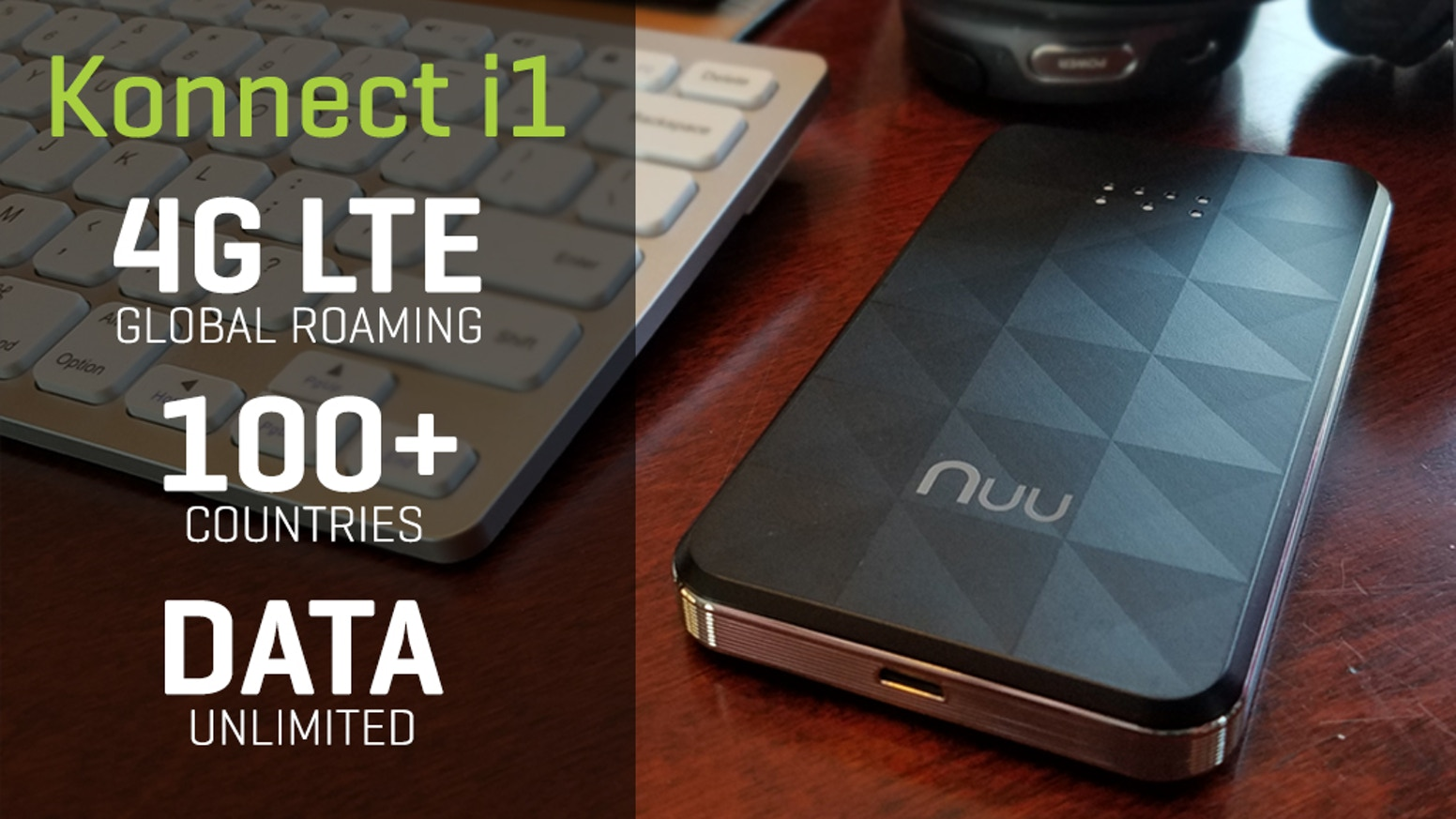 Konnect i1: Stay Connected Worldwide with 4G LTE Wi-Fi by NUU Mobile