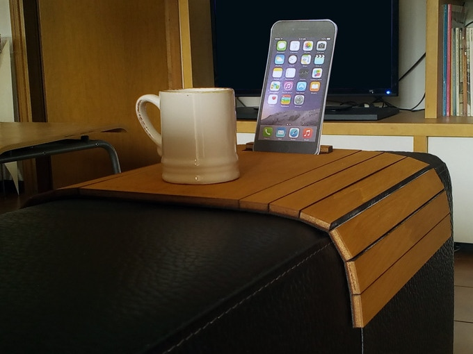 Atos Couch Arm Table With Device Stand For The Best Relax