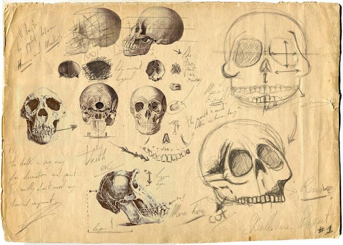 Skullavera Early Design Sketches