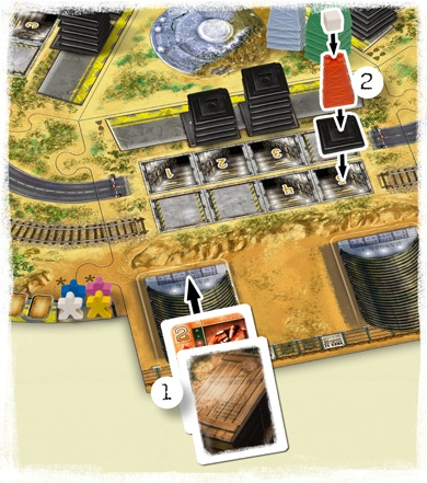 Example of placing a bunker and the cards for it