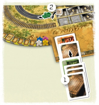 Example of placing a truck and the cards for it