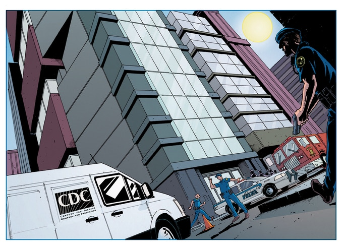 What starts as a typical day in downtown Atlanta, Georgia quickly escalates into something never before imagined! Art by Dani Mendoza, Colors by Tom Long.