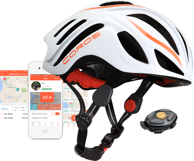 Coros LINX helmet, Smart Remote, app