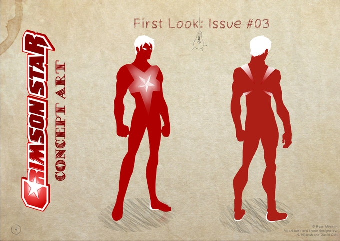 Crimson Star as he first appears in Issue #03