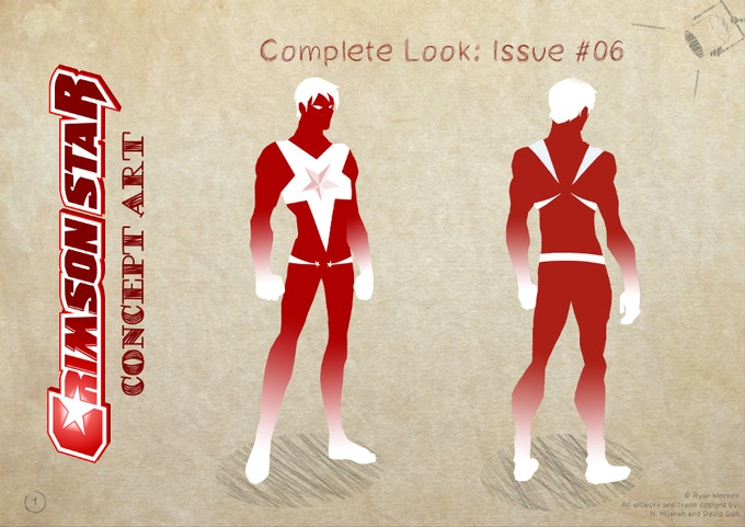 Crimson Star as he will eventually look in Issue #06