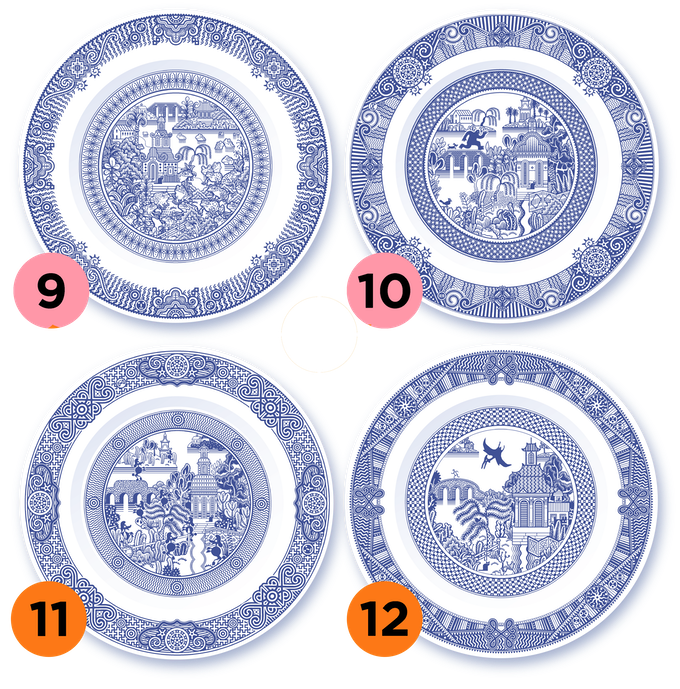 Calamityware Series 3 includes four designs. Plates 9 and 10 have already been Kickstarter projects. This project makes both plates 11 and 12 available at once.