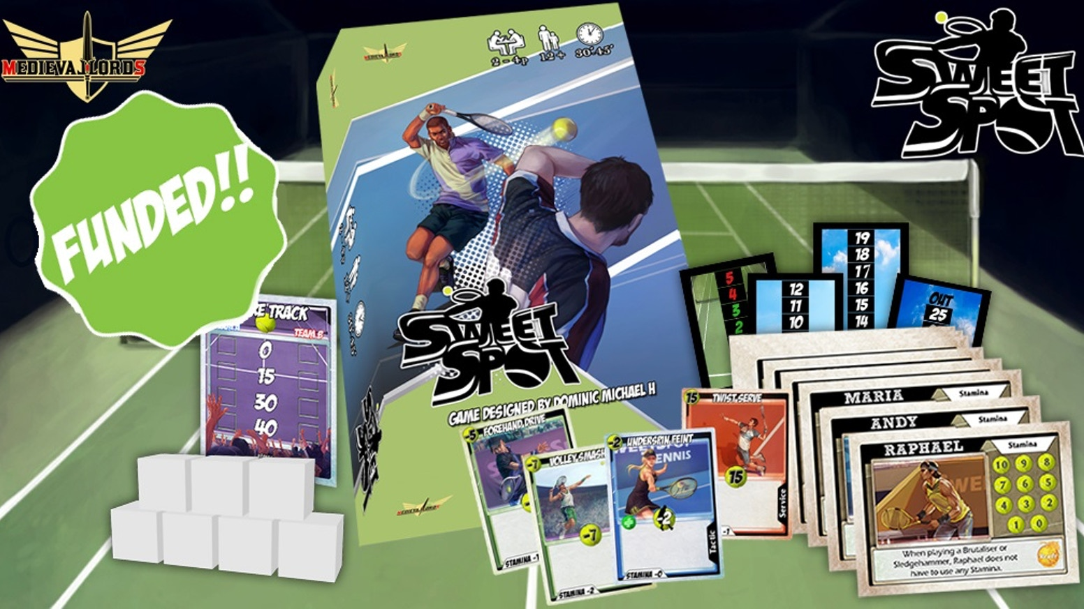 A tactical card game of Tennis that tests teamwork and communication in Doubles mode! Or card skills in 1-on-1. SOLO MODE AVAILABLE!
