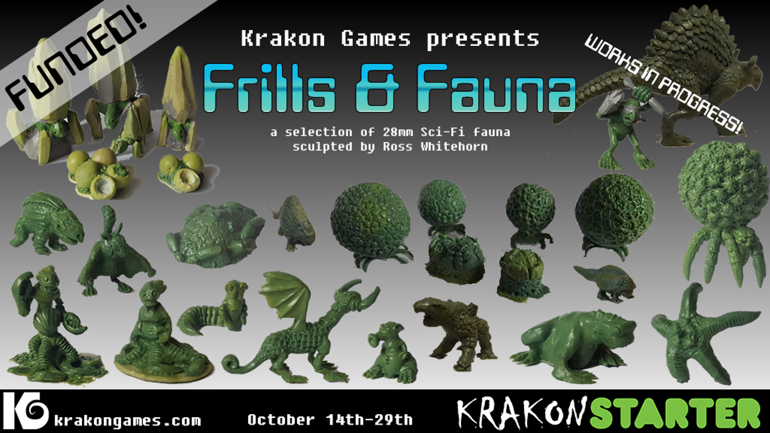 Sci Fi Frills Amp Fauna Miniatures By Whitehorn Krakon
