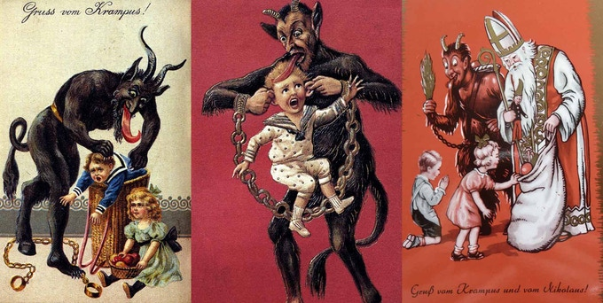 Victorian Christmas postcards from that region are just full of him!