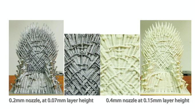 Model height: 7.5cm, 50% of original size. Iron Throne by Revennant