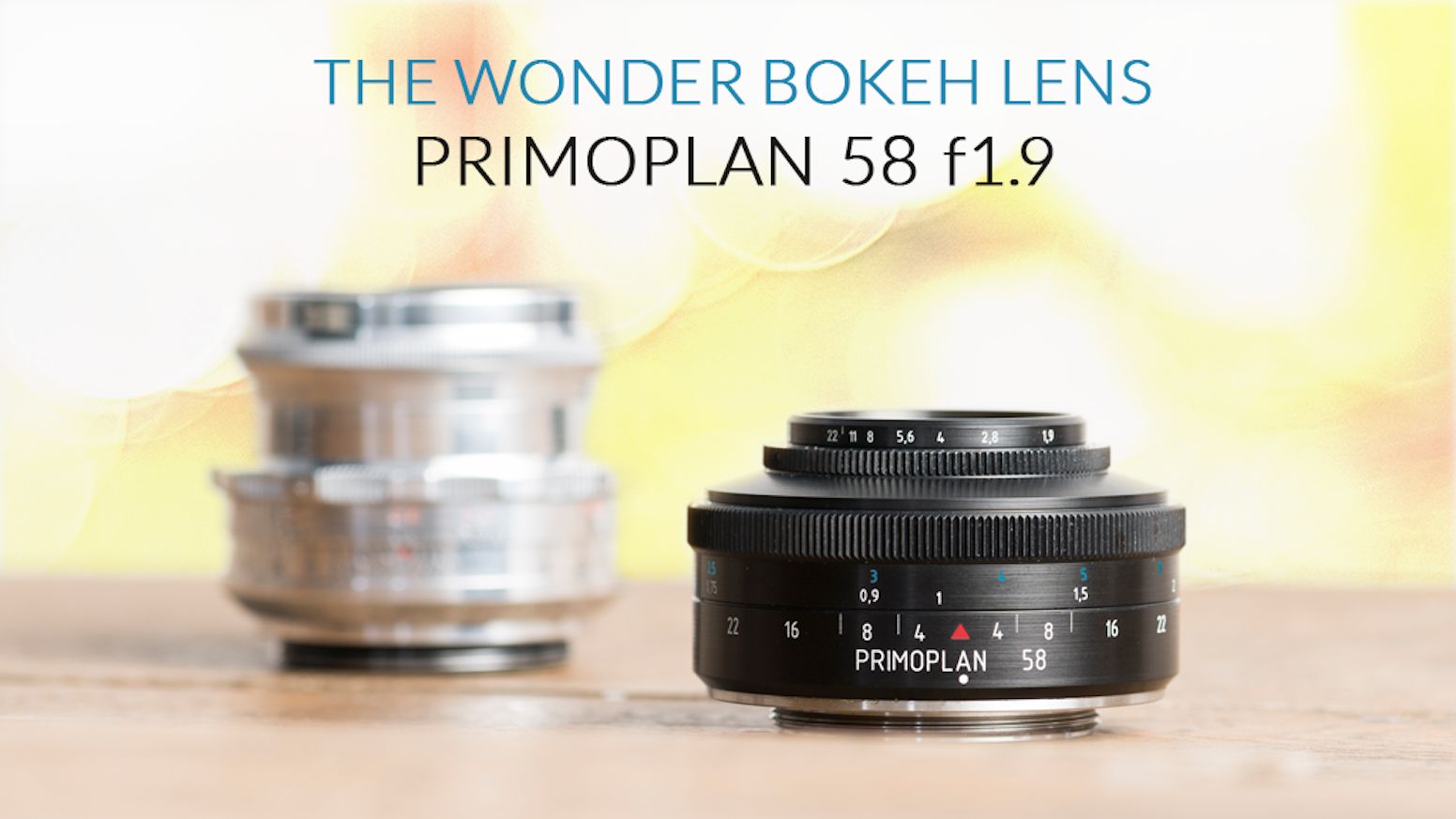 From melting, swirling bubbles to soft and creamy bokeh, yet astonishing sharpness: Discover all those facets in one true art lens