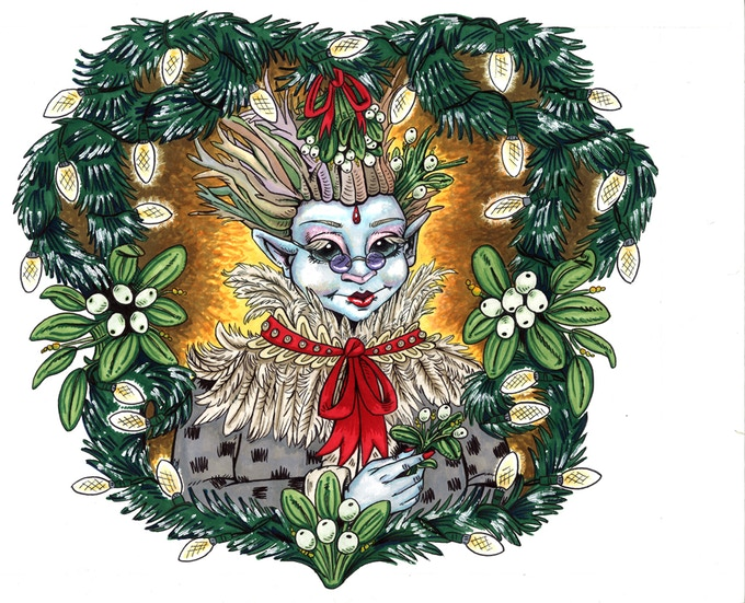 Mama Kringle, the only parent figure who is present in the story.