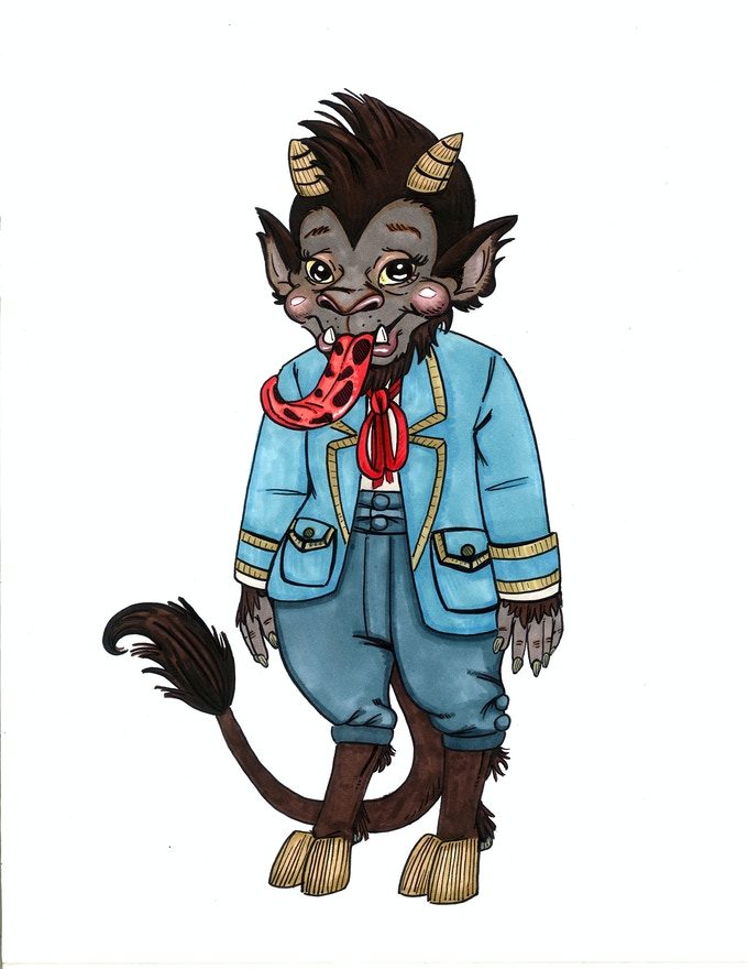 Kris Kringle's little brother, Krampus Kringle. I suppose you could say that he's a little...misunderstood.