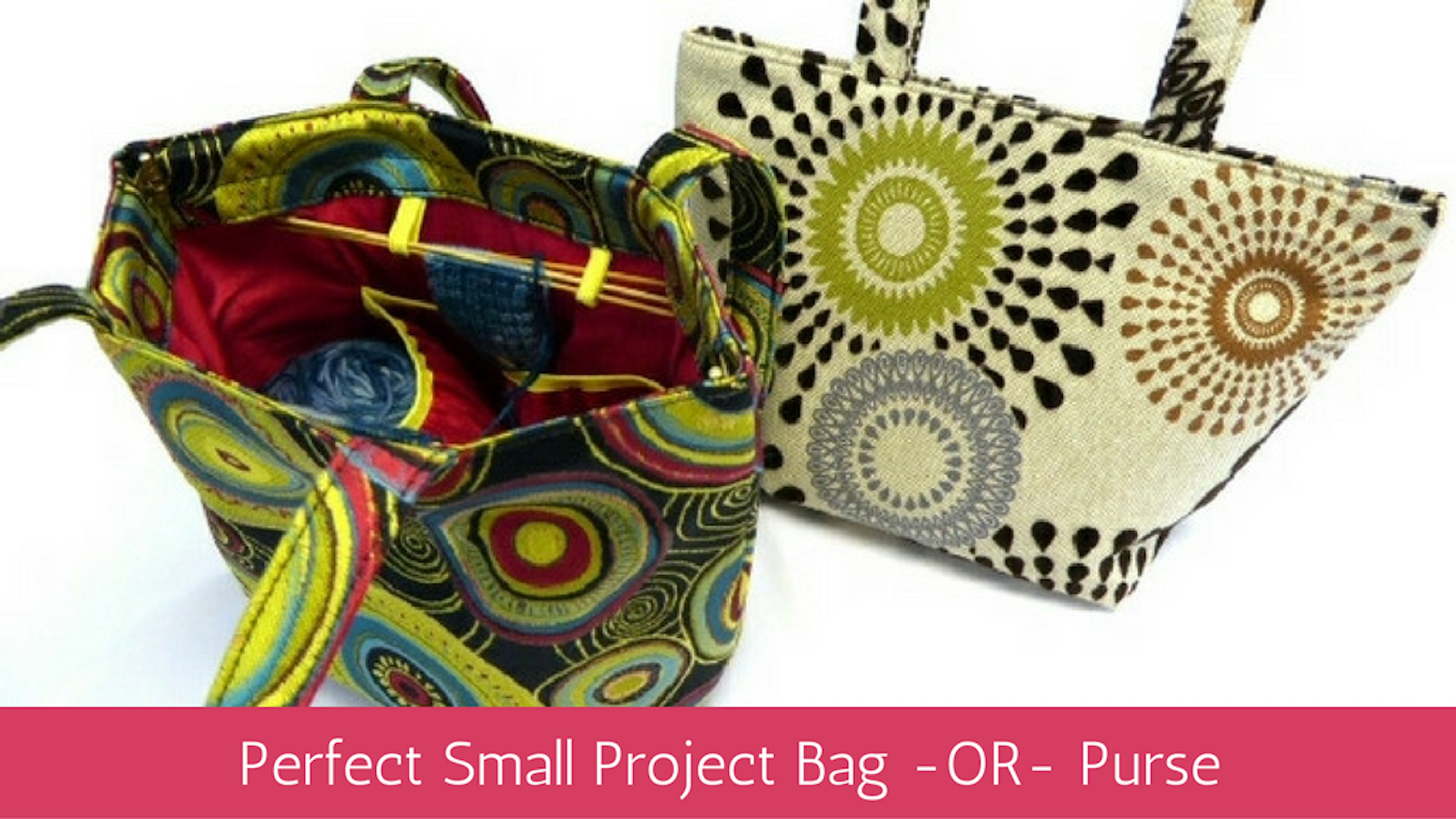 Duo - Perfect Knitting Bag - for socks and small projects. by Mariah ...