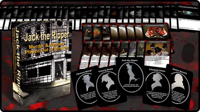 Jack the Ripper is a chaotic, social bluffing card game that plays out in 2 to 15 minutes. Jack is great fun as a filler or party game!