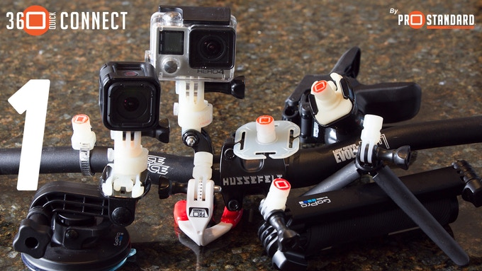 Attach your GoPro to the Camera Mount and Cleat Connectors or Tine Connectors to all your GoPro and third party mounts and accessories.