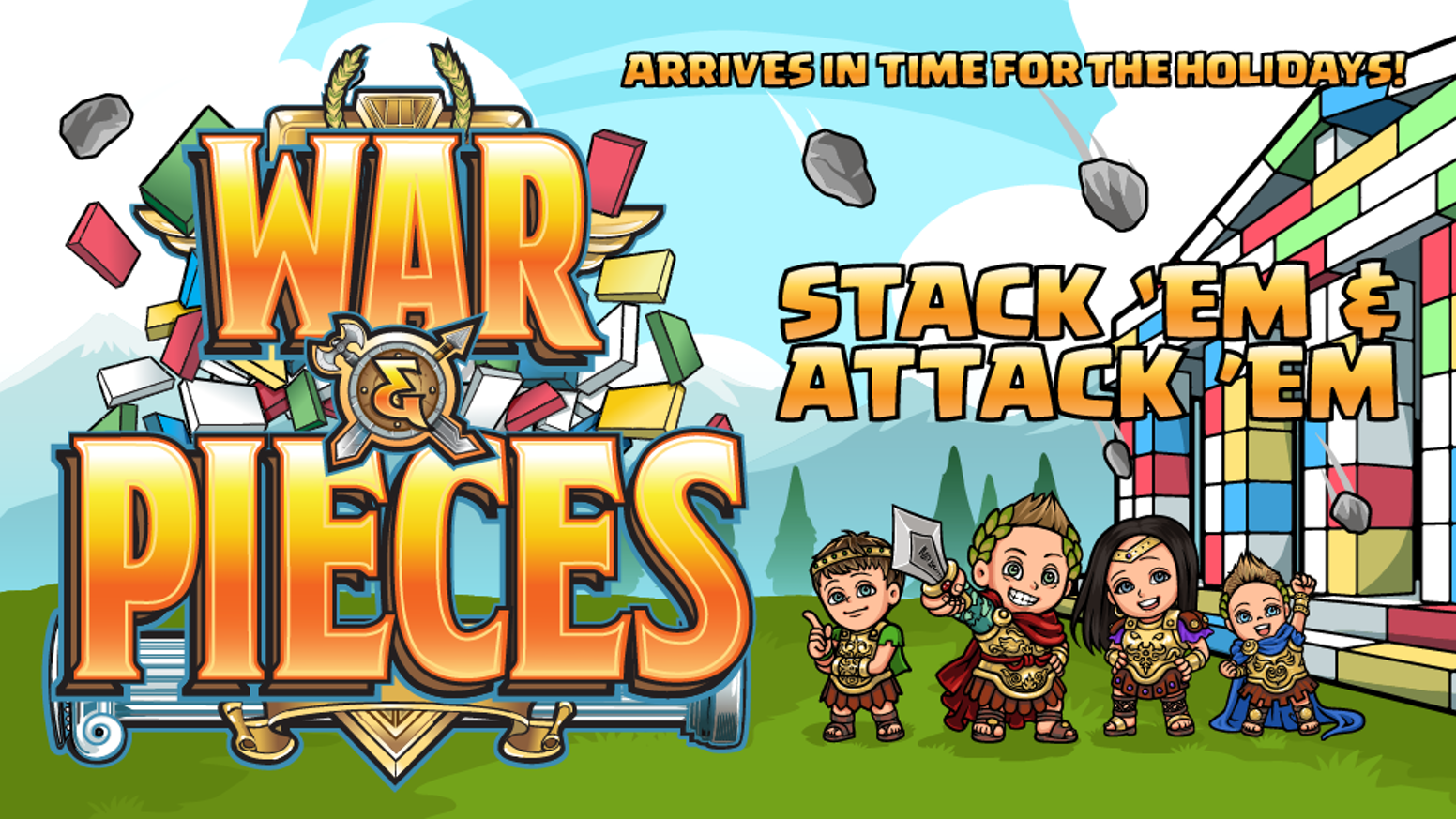 "Get War & Pieces, lovingly created by my family and me. Click ""Back this Project"", choose your game, and get it this holiday season."