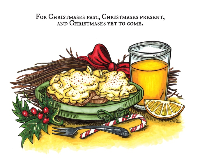 Southern Creamed Eggs are a Christmas morning tradition in my family, and they somehow managed to sneak into this book!