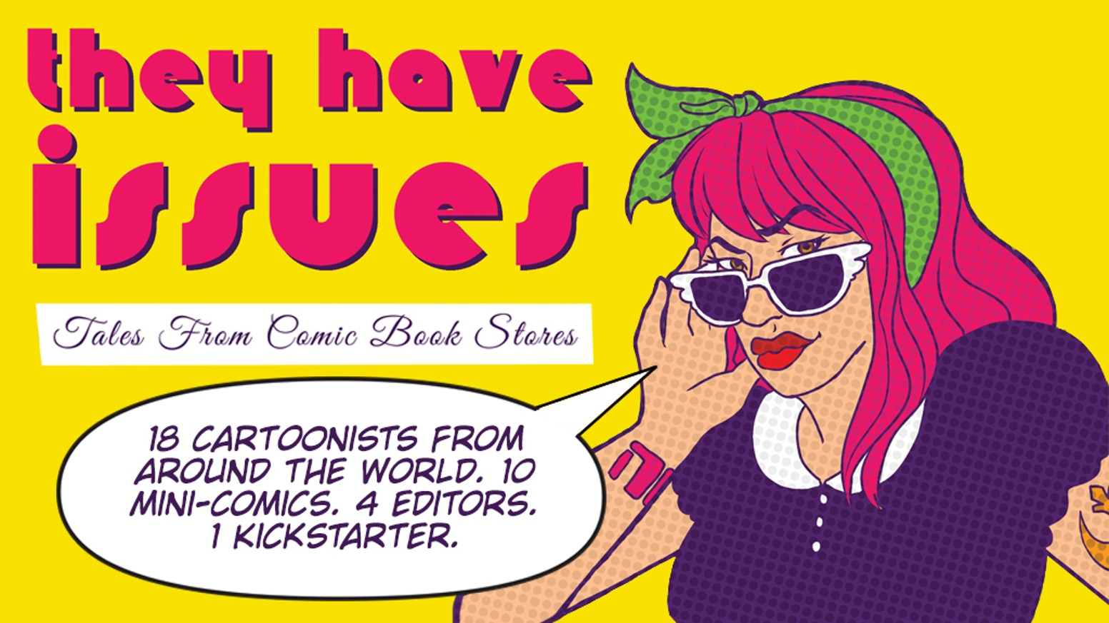 International comic anthology featuring 10 mini-comics about life behind the comic shop counter, from 18 female/non-binary creators!