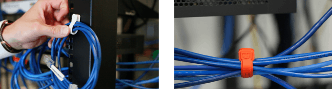 CLOOP LARGE & ethernet cable anchored to a metallic object
